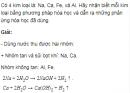 Bài 4 trang 176 SGK Hóa học lớp 12 nâng cao