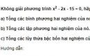 Bài 10 trang 78 SGK Đại số 10 nâng cao