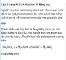 Câu 1 trang 97 SGK Hóa học 11 Nâng cao
