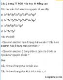 Câu 2 trang 77 SGK Hóa học 11 Nâng cao