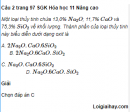 Câu 2 trang 97 SGK Hóa học 11 Nâng cao