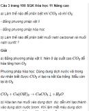Câu 3 trang 100 SGK Hóa học 11 Nâng cao