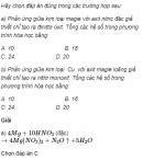 Câu 3 trang 58 SGK Hóa học 11 Nâng cao