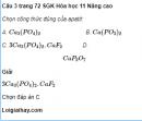 Câu 3 trang 72 SGK Hóa học 11 Nâng cao