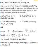 Câu 4 trang 72 SGK Hóa học 11 Nâng cao