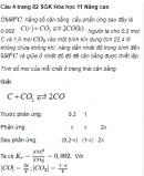 Câu 4 trang 82 SGK Hóa học 11 Nâng cao
