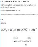 Câu 5 trang 47 SGK Hóa học 11 Nâng cao