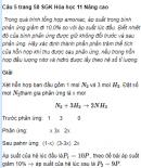Câu 5 trang 58 SGK Hóa học 11 Nâng cao