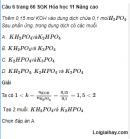 Câu 6 trang 66 SGK Hóa học 11 Nâng cao