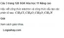 Câu 3 trang 128 SGK Hóa học 11 Nâng cao