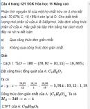 Câu 4 trang 121 SGK Hóa học 11 Nâng cao