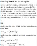 Câu 5 trang 114 SGK Hóa học 11 Nâng cao