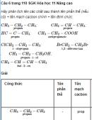 Câu 6 trang 110 SGK Hóa học 11 Nâng cao