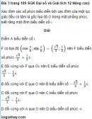 Bài 3 trang 189 SGK Đại số và Giải tích 12 Nâng cao