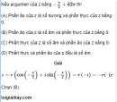Bài 52 trang 210 SGK giải tích 12 nâng cao