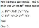 Bài 2 trang 222 SGK hóa học 12 nâng cao