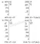 Bài 1, 2, 3 trang 82 SGK Toán 4