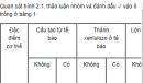 Quan sát hình 2.1, thảo luận nhóm và đánh dấu ✓ vào ô trống ở bảng 1