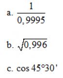 Câu 41 trang 216 SGK Đại số và Giải tích 11 Nâng cao
