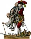 Quan sát hình 5, hãy miêu tả tình cảnh của người nông dân trong xã hội Pháp thời bấy giờ?