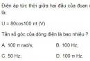 Bài 8 trang 66 SGK Vật lí 12