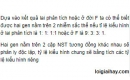 Bài 3 trang 41 SGK Sinh 12