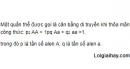 Bài 7 trang 102 SGK Sinh 12