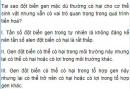 Bài 1 trang 117 SGK Sinh 12
