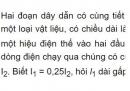 Bài C4 trang 21 SGK Vật lí 9