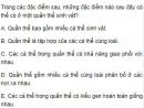 Bài 1 trang 159 SGK Sinh 12