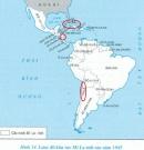 Xác định trên bản đồ châu Mĩ vị trí các nước Cu-ba, Chi-lê, Ni-ca-ra-goa và nêu lên các sự kiện đấu tranh ở ba nước này