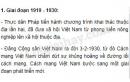 Hãy nêu lên các giai đoạn chính và các đặc điểm lớn gắn liền với từng giai đoạn trong tiến trình lịch sử Việt Nam từ sau Chiến tranh thế giới thứ nhất (1919) đến nay