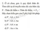Bài 2 trang 22 SGK Sinh học 9