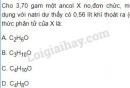 Bài 9 trang 187 SGK Hóa học 11