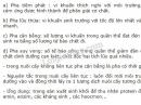 Bài 1 phần II trang 130 SGK Sinh học 10