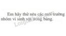 Bài 2 phần II trang 130 SGK Sinh học 10