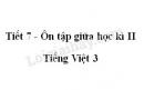 Tiết 7 - Ôn tập giữa học kì II trang 76 SGK Tiếng Việt 3 tập 2