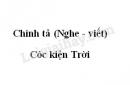 Chính tả bài Cóc kiện Trời trang 124 SGK Tiếng Việt 3 tập 2
