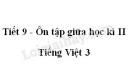 Tiết 9 - Ôn tập giữa học kì II trang 79 SGK Tiếng Việt 3 tập 2