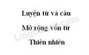 Luyện từ và câu: Mở rộng vốn từ: Thiên nhiên trang 78 SGK Tiếng Việt 5 tập 1