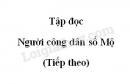 Soạn bài Người công dân số một trang 10 SGK Tiếng Việt 5 tập 2
