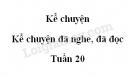 Kể chuyện: Kể chuyện đã nghe, đã đọc trang 19 SGK Tiếng Việt 5 tập 2