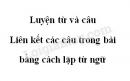 Luyện từ và câu: Liên kết các câu trong bài bằng cách lặp từ ngữ trang 71 SGK Tiếng Việt lớp 5 tập 2