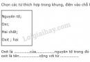 Bài 1 trang 91 SGK Hóa học 8