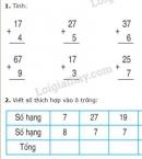 Bài 1, 2, 3, 4 trang 27 SGK Toán 2
