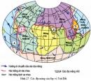 Hãy quan sát hình 27 và chỉ ra những chỗ tiếp xúc của các địa mảng.