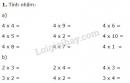 Bài 1, 2, 3, 4 trang 100 SGK Toán 2