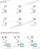 Bài 1, 2, 3, 4 trang 28 SGK Toán 2