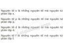 Bài 1 trang 30 SGK Hoá học 10