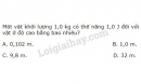 Bài 3 trang 141 SGK Vật lí 10